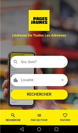 Application mobile PAges Jaunes Algérie