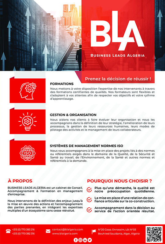 BLA-BUSINESS LEADS ALGERIA,Sarl